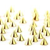Shari 100x Gold Punk 3D Nail Art Alloy Rivet Studs Pyramid Spikes Glitters DIY Decoration 3*4.3MM