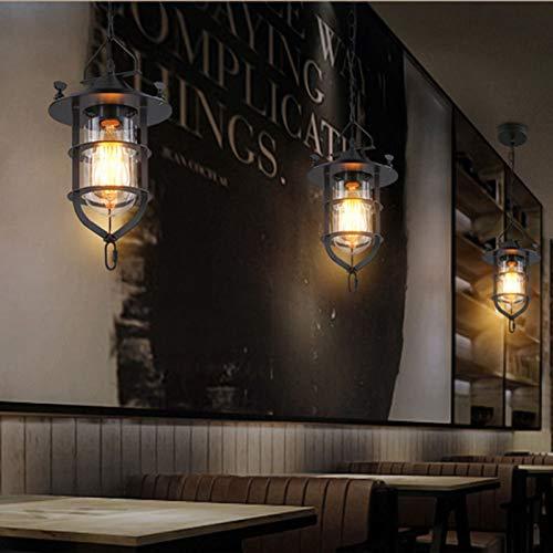 FidgetFidget Retro Loft Chandelier Ceiling Light Fixtures Bar Restaurant Pendant Lamp Lantern by FidgetFidget (Image #6)