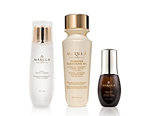 Pure Marula Facial Trio - Facial Oil, Foaming Cleaning Oil and Facial Renewal Essence