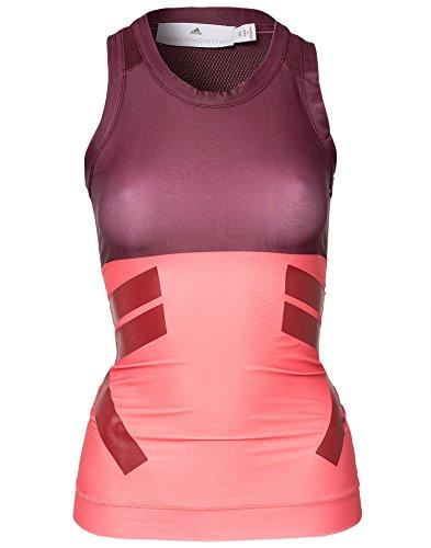 adidas by Stella McCartney–Run Tech Fit Tank, color rosa/marrón - Pink/Maroon