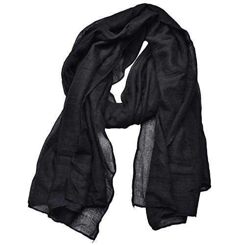 (Woogwin Light Soft Scarves Fashion Scarf Shawl Wrap For Women Men (Black))