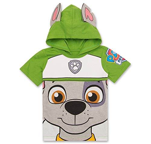 Nickelodeon Paw Patrol Hooded Shirt: Chase, Marshall, Rocky, Rubble, Zuma - Boys