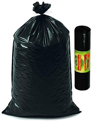Bolsas Negras para basura 90 x 120 fascettati ...