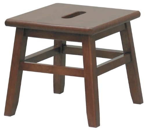 Winsome Wood 94213 Walnut Conductor Step Stool