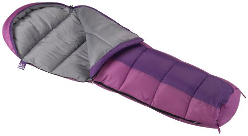 Purple Kids Bag - Wenzel Backyard Girls 30-Degree Sleeping Bag, Purple