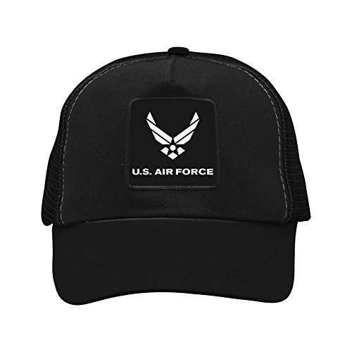 BMN&GAO US AIR Force Baseball Cap Hat Adjustable Mesh Trucker Baseball Cap Hat for Women Men Girl Black
