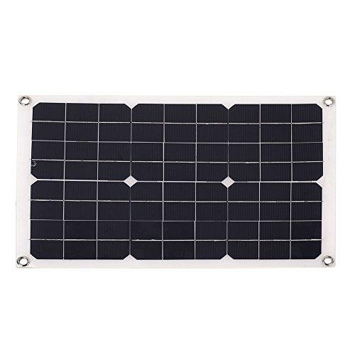 Generador Solar Fuente de alimentación de Emergencia Portátil USB + DC Puerto 20W 18V Silicio monocristalino Durable...