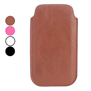 ZL Samsung S4 I9500 compatible Solid Color/Name Brand Style Genuine Leather Pouches , White