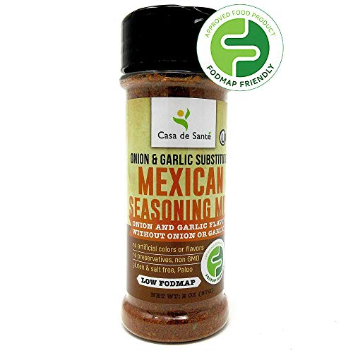 Low FODMAP Mexican/Taco Seasoning, Paleo Seasoning Set, Healthy Spices for the Low FODMAP Diet, Popcorn Seasoning, Gluten-Free, Kosher, All Natural Flavors - Casa de Sante