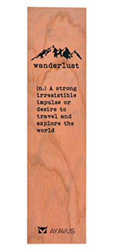 Wood Bookmark Wanderlust Travel Wooden Bookmark Traveling Gifts Hipster Quotes Made in USA from AYAVUS