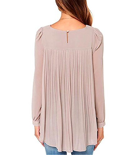 Tribangke - Camiseta de manga larga - para mujer caqui