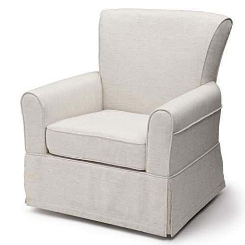 41HtU1ibMjL - Delta Children Upholstered Glider Swivel Rocker Chair, Sand