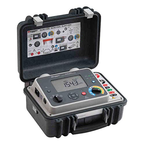 - Megger DLRO100EB (1004-879) Portable Micro-Ohmmeter, 100 A, Battery and AC Powered