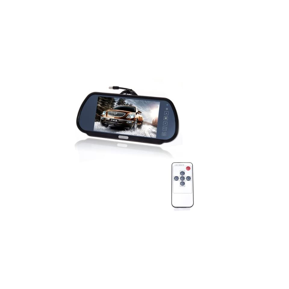 7 Inch TFT Color LCD Wide Screen Car Rear View Backup Parking Monitor With Remote Control