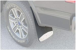 3500 Ram 1500 2500 LUVERNE 250930 Front Textured Rubber Mud Guards Black 12-Inch x 20-Inch Select Dodge