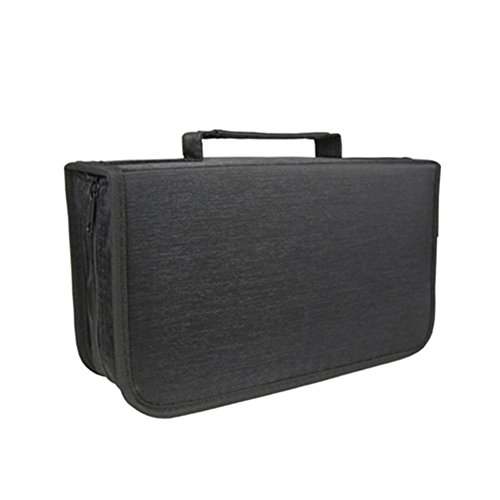 128 Capacity CD/DVD case Wallet, storage,holder,booklet by Rekukos(Black)