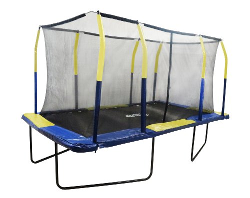 Upper Bounce Easy Assemble Spacious Rectangular Trampoline with Fiber Flex Enclosure Feature, 9 x 15-Feet by Upper Bounce (Image #1)