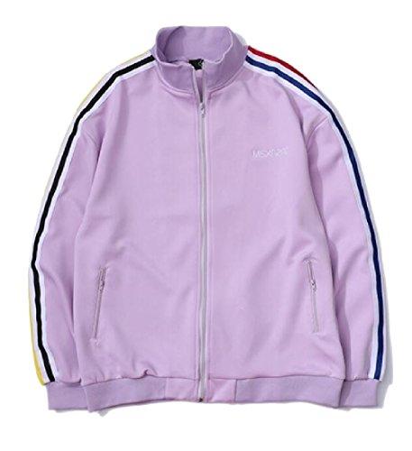 Training Purple EKU Long Mens Fit Jacket Active Slim up Sleeve Zip FwB7gFqx
