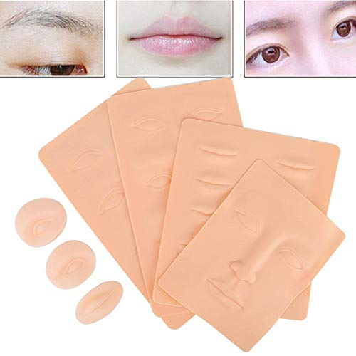 3PCS Practical Skin Tattoo, Skin for Tattoos, Fake Makeup Microblading Eyebrow Skin Practice Lip Training Silicone Fake Tattoo Practice Skin \ t
