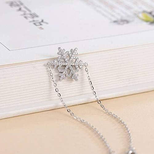 Ogquaton/5 Pcs//Ensemble Bracelet Flocon De Neige Gemmes /Étoile Croissant Gaufrette Cha/îne Bracelet Ensemble Femmes Bijoux Exquis Partie Accessoires Cadeaux Durable et Utile