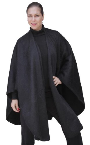Free Fine Woven Alpaca Wool Cape Ruana Poncho Wrap One Size Colors Available