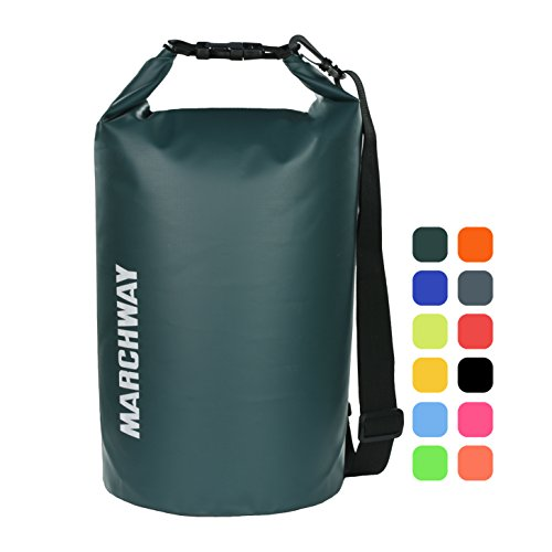 MARCHWAY Floating Waterproof Dry Bag 5L/10L/20L/30L, Roll Top Dry Sack for Kayaking,...