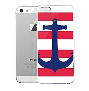 phone covers Light weight with strong PC plastic case for iPhone 5c Patterns Stripes Nautical Stripes WANGJING JINDA