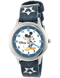 Kids' W000015 Mickey Mouse Stainless Steel Time Teacher Watch