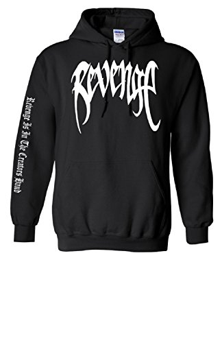 Hot Adult Sweatshirt - TheTshack Adult Revenge Hoodie Xxxtentacion Trendy Top Hot Cool Rap Sweatshirt (Medium, Black)