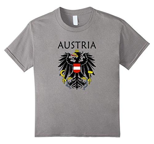 Kids Austria Coat of Arms T-Shirt Austrian Emblem Shirt 4 (Austria Coat Of Arms)
