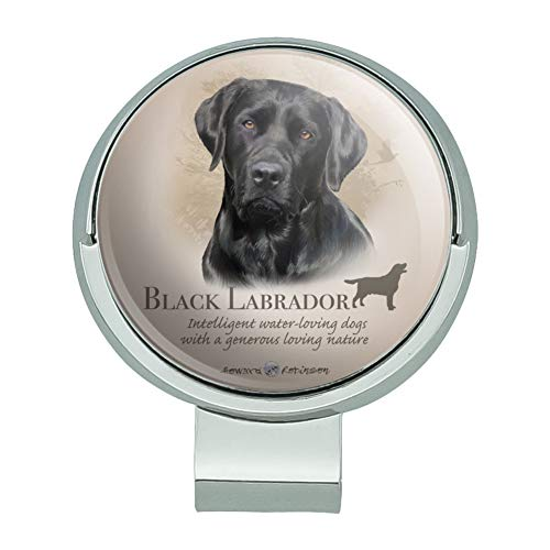 GRAPHICS & MORE Black Lab Labrador Dog Breed Golf Hat Clip with Magnetic Ball Marker
