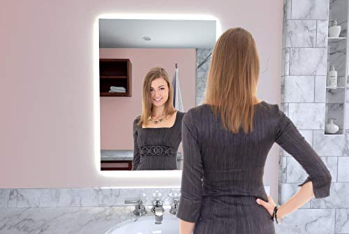 Naomi Home LED Lighted Bathroom Wall Mounted Mirror-Anti Fog, Touch Switch Silver/31 -