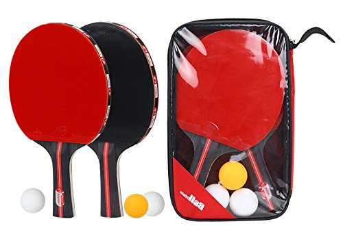 Boliprince Ping Pong Paddles 2-Player Table Tennis Racket Set With 3 balls by Boliprince