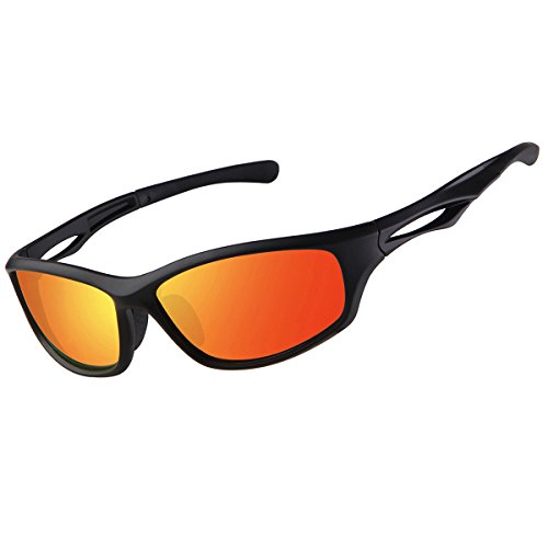 FEIDU Sport Polarized Sunglasses for Men Driving Cycling Men's Sunglasses FD 9014 (Red/Black, - Men From China Sunglasses For