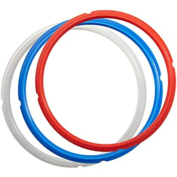 Goldlion Sealing Ring Compatible with Ninja Foodi 6.5 Quart and 8 Quart Silicone Gasket Accessories Rubber Sealer Replacement for Pressure Cooker and Air Fryer, Pack of 3