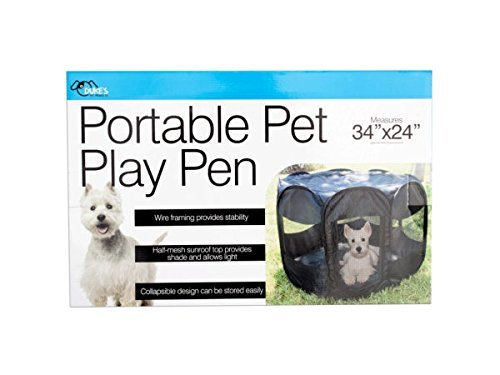Portable Pet Play Pen - Pack of 1