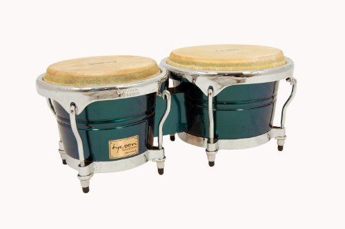 Tycoon Percussion 7 Inch & 8 1/2 Inch Concerto Series Bongos, Green Spectrum Finish by Tycoon Percussion