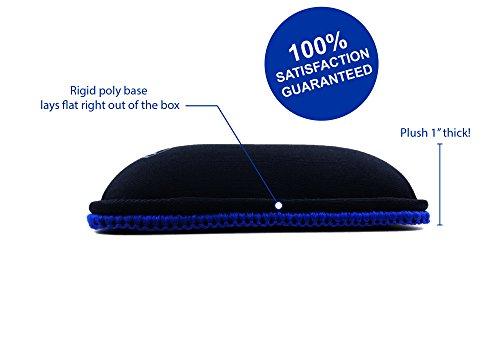 "XL Keyboard Wrist Rest/Wrist Pad, TENKEYLESS 14.5"" Long x 4"" Wide x 1"" Thick Padded Water Resistant, Ergonomic Memory Foam Gel, Anti-Fray Stitched Edges, Anti-Slip Rubber Base, Black   by Metratonic by Metratonic (Image #3)"