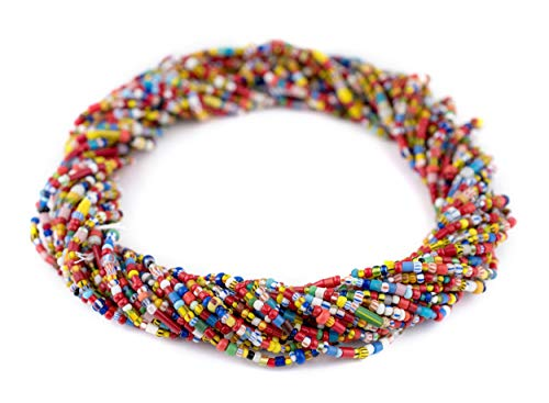 - TheBeadChest Medium Vintage Christmas Beads Traditional Medley 4mm Ghana African Multicolor Mixed Glass 32 Inch Strand Handmade