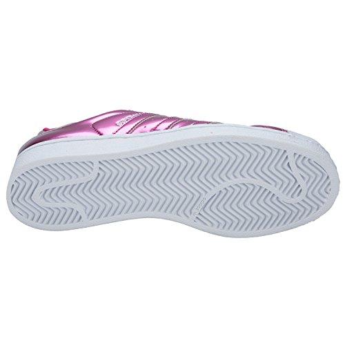 adidas Originals Superstar delle donne Shell addestratori Toe scarpe rosa lucido / Bianco