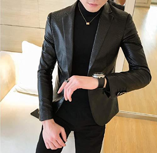 1 Pu Giacche Energymen Ispessiscono Outwear Comodità Solidi COgfq