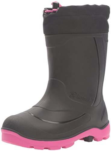 Kamik Girls' Snobuster1 Snow Boot, Black/Magenta, 13 Medium US Little Kid