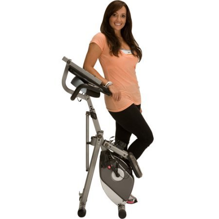 Folding Recumbent Exercise Bike Cardio Fitness Training Home Gym Workout Stationary Bicycle Cycling Large Seat Cushion Magnetic Tension Control Upright Tone Legs Muscle Weight Loss Portable Equipment