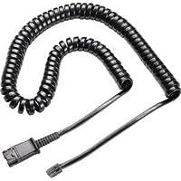 U10P U10-P Headset Adapter Cable for Plantronics Style QD - connects Plantronics or TruVoice headsets to Nortel, Mitel, Avaya, Polycom VVX, Shortel, Aastra and Analog Deskphones