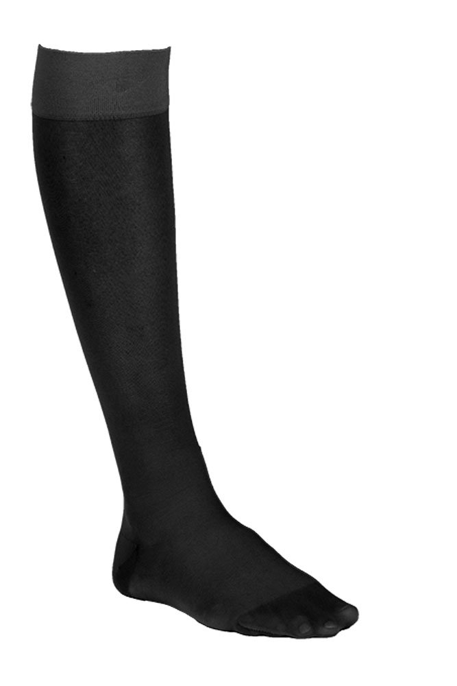 Dr. Comfort Women's So-Sheer Knee-High Compression Stocking, 15-20 mmHg, Black, Medium for Travel, Flying, Nursing, Pregnancy, Varicose Veins, Edema