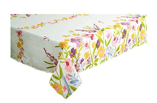 (Newbridge Spring Awakening Flower Garden Print Fabric Tablecloth (52 x 70 Rectangle/Oblong))