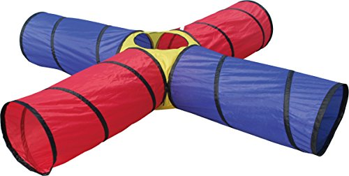 ('Playscene' Children's 4 Junction Tunnel Play Tent, Pop up, Foldable, Children's Indoor / Outdoor 8 FEET!!!!! Play Tent Tunnel)