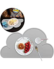 Kids Placemat -Cloud Shape Placemat, Silicone Placemat Waterproof Baby Placemat