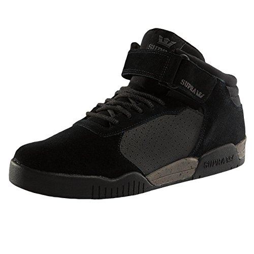 Supra Ellington Strap, Men's Low-Top Sneakers Black-Grey Speckle