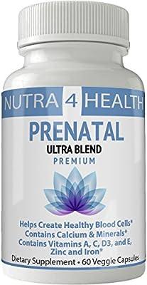 Prenatal Postnatal Vitamins | Vitaminas Prenatales | Pastillas Prenatales | Ultra Blend - Complete Multivitamin & Mineral Complex For Pregnant Women and ...